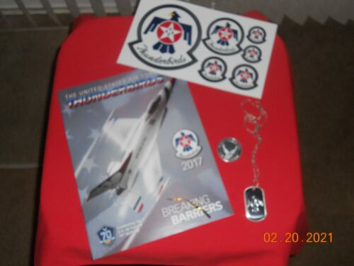 THE UNITED STATES AIR FORCE THUNDERBIRDS 2017 - PROGRAM AND THUNDERBIRD STICKERS
