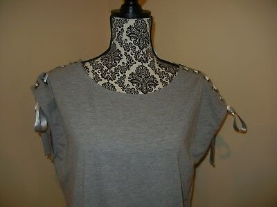 Lace Up Shoulder Sweatshirt Dress Sincerely Jules Size L