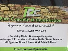 Retaining walls concreting and landscaping St Clair Penrith Area Preview