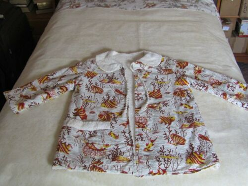 Vintage CHILDS  Sz 4  Heavy Reversible Terry/Cotton  Pool  Beach  Coverup  Robe