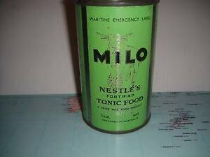 """""""ww2 War Time Nestles Milo tin, great bar display Moonah Glenorchy Area Preview"""
