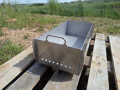 Schaschlik Grill, Mangal (Мангал) aus 3 mm Edelstahl (V2A) XL für unterwegs