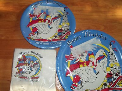 Mother Goose Party Supplies (Mother Goose Birthday Party Supplies 4pc Lot Beach Multi-color)