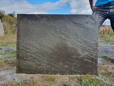 New Natural Stone Hearth Table Large Sandstone Slab 1.1m x 0.8m - made in the UK