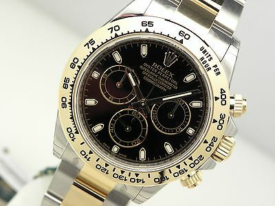 Rolex Daytona 116503 Two Tone Steel & Yellow Gold Black Index Dial 40mm Watch