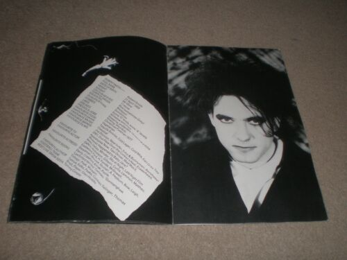 THE CURE HEAD ON THE DOOR 1985 TOUR PROGRAM BOOK ROBERT SMITH