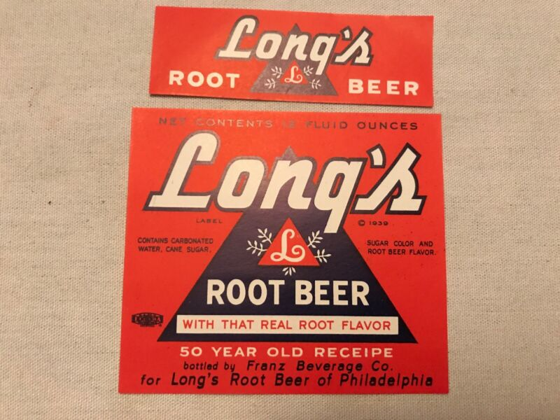 Long's Root Beer Vintage Label, Franz Beverage Co., Philadelphia, Pa.