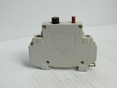 Weidmuller Circuit Breaker 910180 5 Amp A 5a 1p 1 Pole White 250vac 65vdc - Used