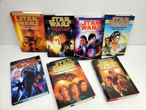 Lot of 7 STAR WARS Hardcover Books Bantam Specter Zahn Tyers Hambly  ++ UNREAD
