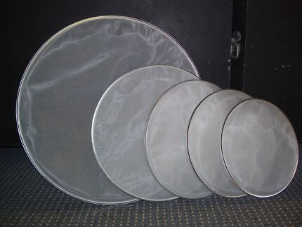 SET OF DUAL PLY MESH DRUM HEADS(12,13,14,16 and22inch)