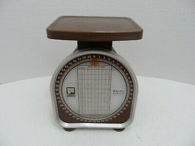 Vintage Pelouze Postal Scale Brown - 50 Pound Limit Postal Scale -- Model Y50