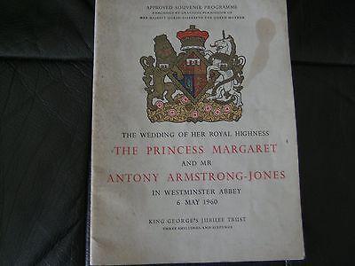 approved souvenir programme princess margaret/antony armstrong jones