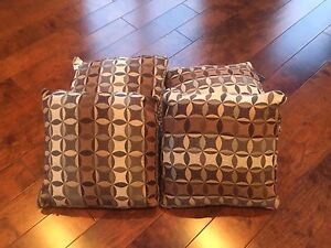 Four couch pillows