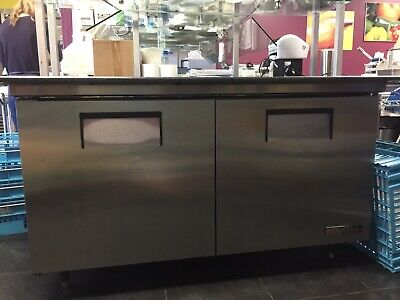True Tssu-60-16 60 Double Door Refrigerated Sandwich Prep Table 115 V