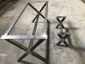 Heavy duty custom made steel table legs and base for sale