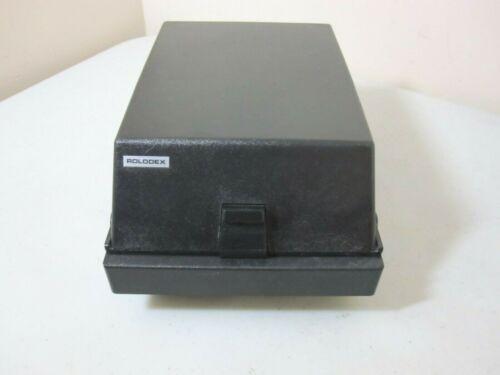 Vintage Rolodex RC-35 Card Portable File Case with Handle Black EUC