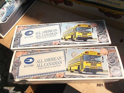 Bluebird bus bank in original box