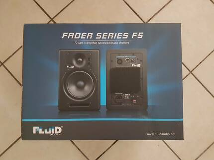 70W Biamped Studio Monitor Recording Speakers Fluid Fader F5