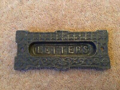 "Antique Small Cast Iron Letter Box, Letter Slot, 5.3/4"" x 2.3/8"" (146mm x 60mm)"