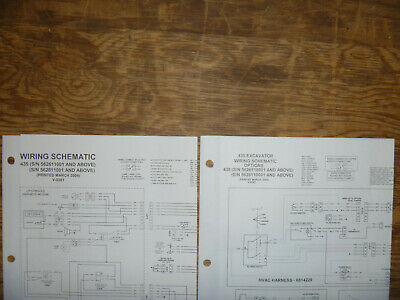 Bobcat 435 Excavator Electrical Wiring Diagram Schematic Manual Sn 562811001-up