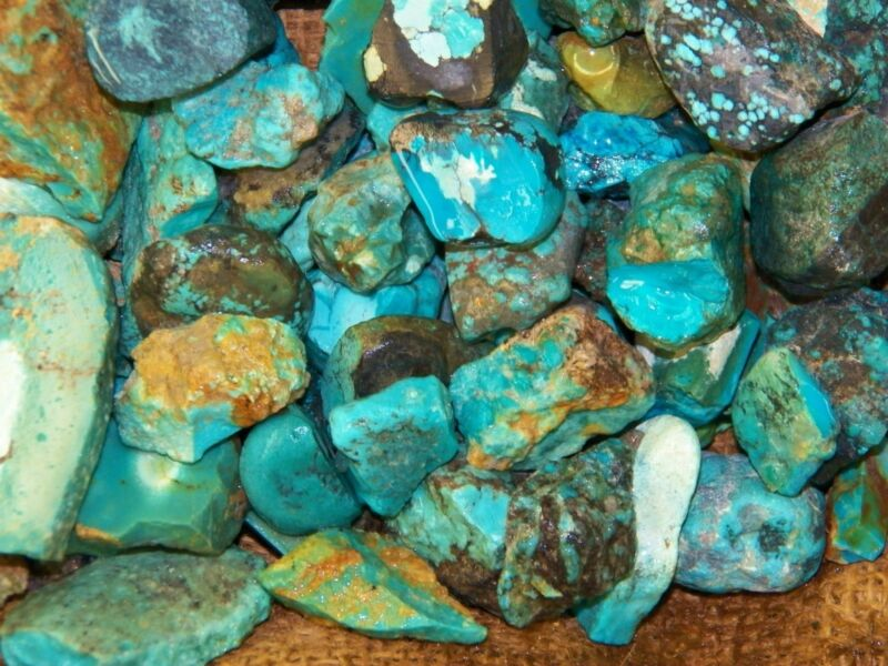 1000 Carat Lots of Old Stock Kingman, AZ Turquoise  Rough - HIGH END