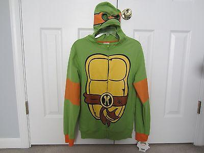 NWT Teenage Mutant Ninja Turtles Michelangelo Costume Zip Hoodie Mens Small S
