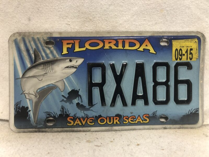 2015 Florida Save Our Seas License Plate SHARK