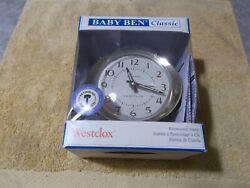 New WESTCLOX Baby Ben Classic Deluxe Keywound Alarm Clock 11505 wake the dead