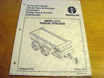 New Holland 3114 Manure Spreader Parts Catalog List Book Manual Nh New