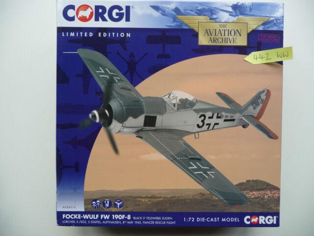 Corgi Aviation AA34316 Focke-Wulf FW 190F-8 'Black 3' Eugen Lorcher May 1945.