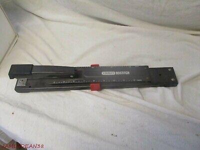 Stanley Bostitch Adjustable Long Reach 12 Stapler Black