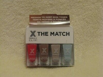 Formula X Nail Polish 4 Color Set For Medium to Deep Skin Tones NIB ()