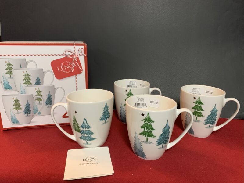 Lenox Balsam Lane Set Of 4 Mugs