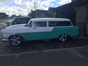 56 Chevy 150 2 dr wagon