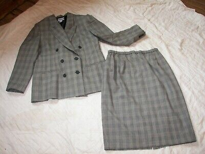 Vtg. Pendleton Classic Skirt Suit - Size 14 - 100% Virgin Wool - Double Breasted