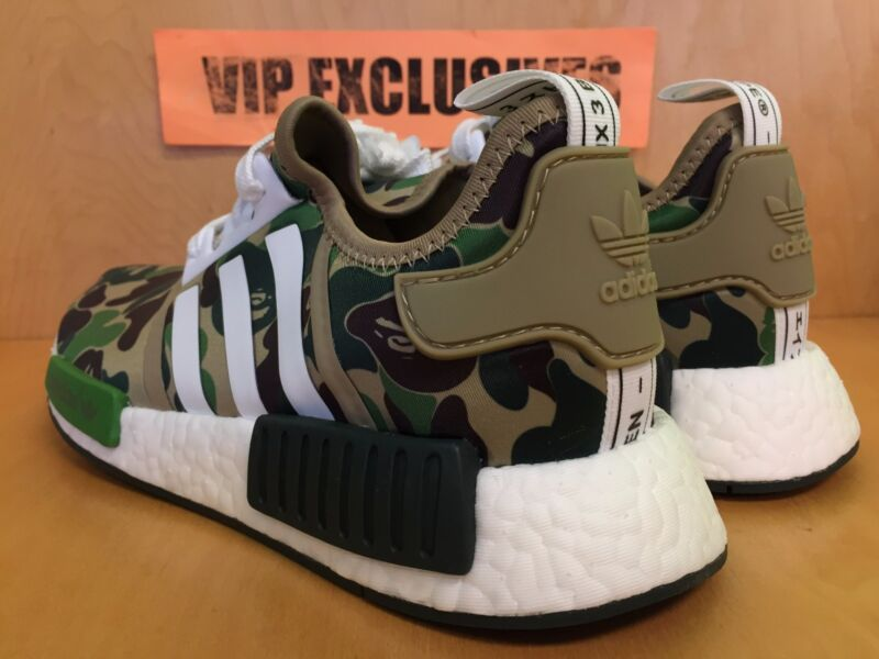 check out 1f569 9a057 ... Adidas NMD R1 Bape Green Camo Army Bathing Ape Nomad Runner BA7326  SHIPPING NOW ...