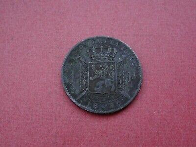 1886 1 Franc Belgique Belgïe Leopold II Argent Silver Nice details