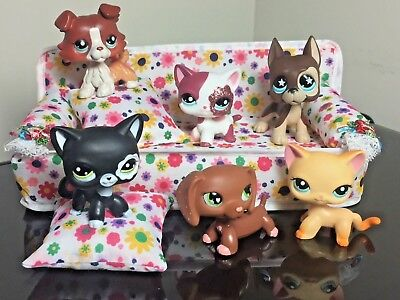 Littlest Pet Shop Sofa Bed Couch LPS ACCESSORIE Clothes Sofa Pillows NO Cat-Dog