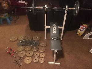 Weight Set and 220lbs in  Weights