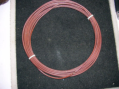 12 Awg Mil Spec M168784 Xe Ptfe Silver Plate Wire 20 Feet Brown