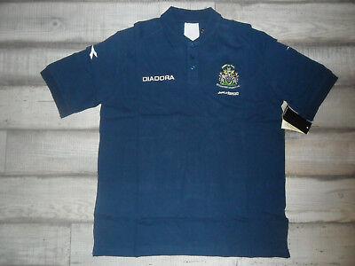 Diadora Polo Shirt Stockport Country FC! Marine Gr. L *NEU* Top ()