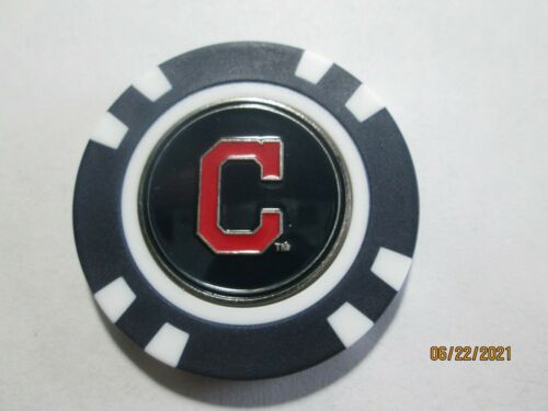 New! Cleveland Indians Magnetic Poker Chip Removable Two Sided Golf Ball Marker