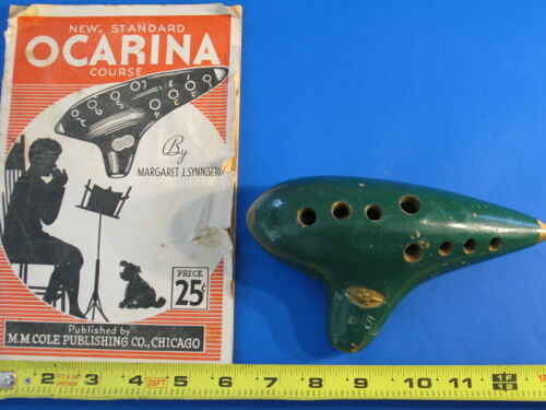 Vintage D6 Sweet Potato Ocarina made by Guido Bondi and booklet