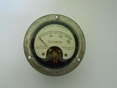 Vintage Roller-smith Dc Volts Gauge 0-300v