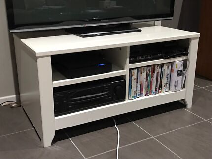 White IKEA TV/entertainment unit