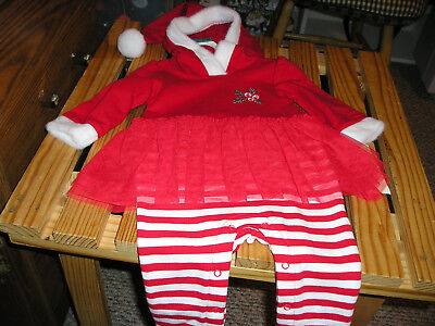 Christmas Girls Infant Outfit  BRAND NEW. Size 0/3M OR 6/9M SUPER CUTE FREE SHIP - Cute Christmas Outfit