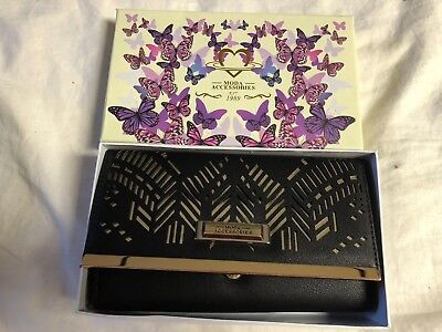 Moda Accessories Black with Gold Accents Wallet Brand New in Box