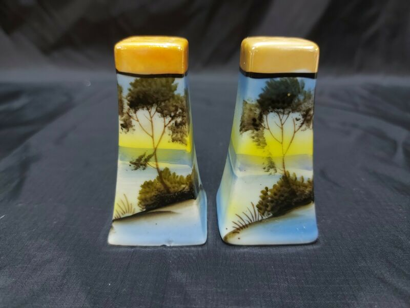 Vintage Collection 9 Hole Scenery Salt and Pepper Shakers