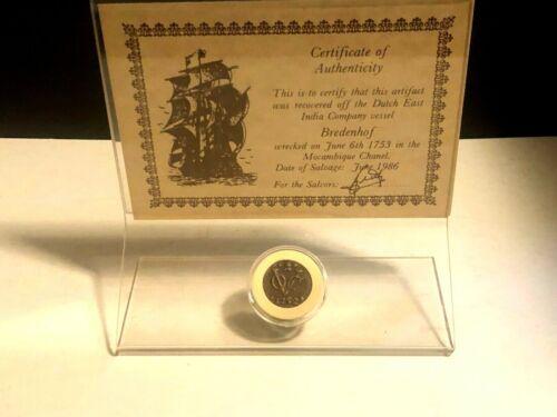 Rare Coin 1752 Uncirculated Duit coin from BREDENHOF Shipwreck 1753