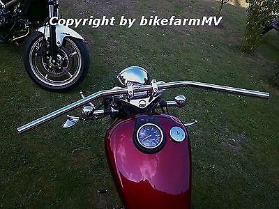 bMV Drag Bar 910 x 1 Zoll CHROM Lenker Motorrad ABE TÜV Chopper Bopper Cruiser
